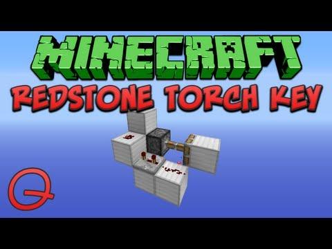 Minecraft: Redstone Torch Key (Quick) Tutorial