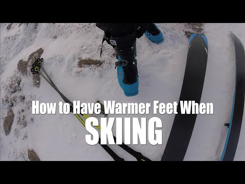 Tips for warmer feet skiing // DAVE SEARLE