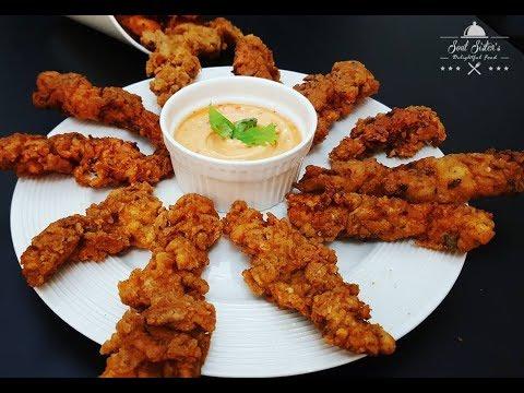Crispy Chicken Fingers | Crispy Chicken Strips | Spicy Chicken Fingers