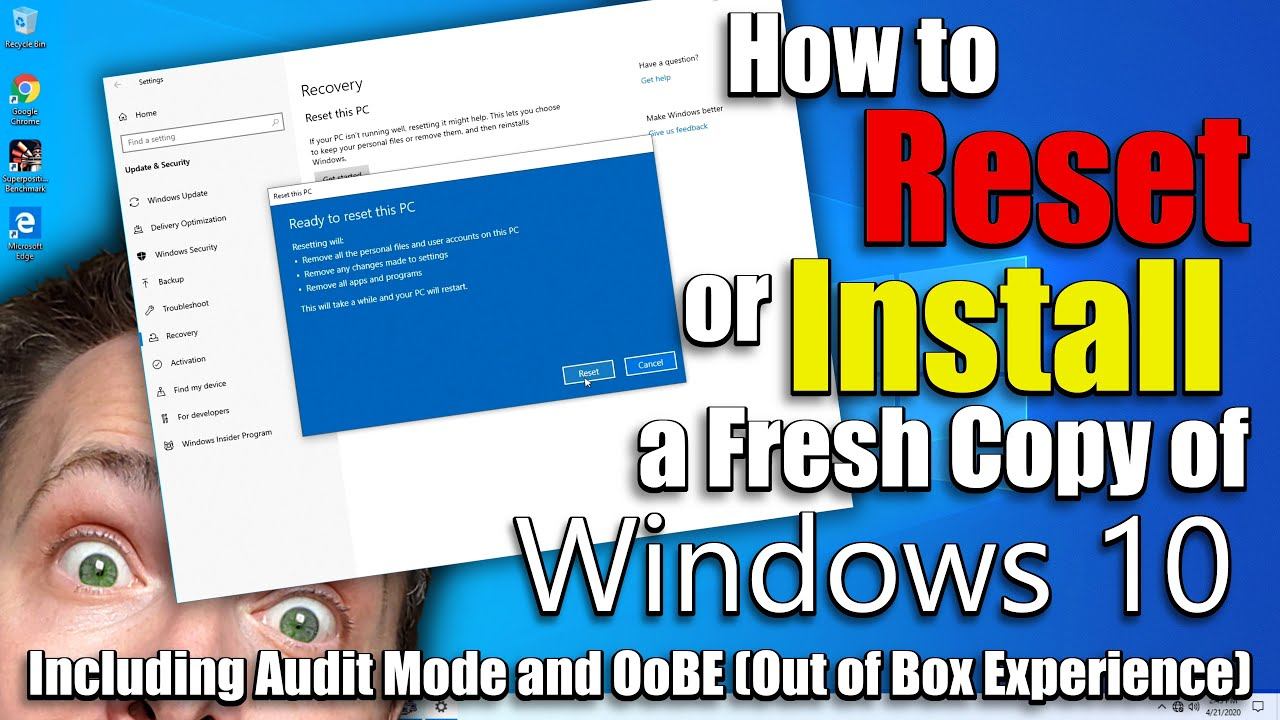 How to Reset Windows to Sell Your Old PC – How to Windows Audit Mode aka OoBE(Out of Box Experience)