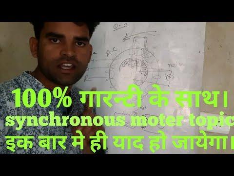 Synchronous motor in hindi by deepak devatwal . electrical topic in hindi. working Synchronous moter