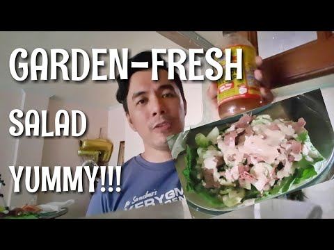 FILIPINO KETO: GARDEN-FRESH KETO SALAD WITH MY VERSION OF SALAD DRESSING