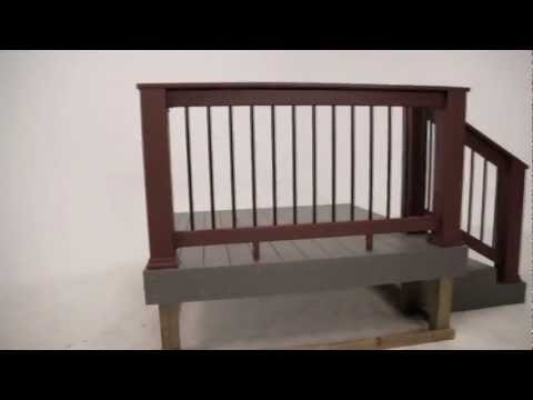 TimberTech Evolutions Rail™ Builder with Metal Balusters Install