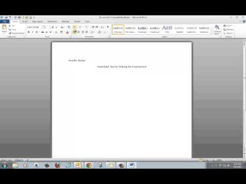 How to Make a Bulleted List in Microsoft Word