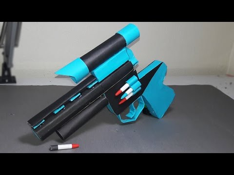   DIY   How to make a paper ZOMBIE GUN that shoots paper bullets-TOY WEAPONS- By Dr. Origami