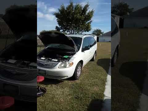 2002 Chrysler Town and country Dodge caravan fuel leak gas smell fix.