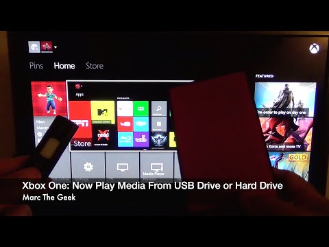 XBOX One: Play Media From USB Drive or Hard Drive