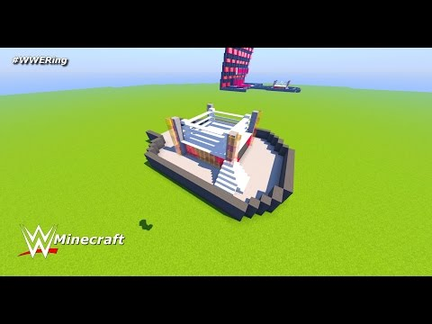 WWE: Minecraft [How to build a WWE Ring] (Speed Build)