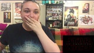 Star Wars Episode VIII: The Last Jedi Official Trailer REACTION!!!