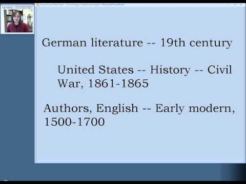 Library of Congress Subject Headings: Lesson 3, Section 4
