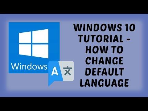 Windows 10 Tutorial - How To Change Default Language | Tutorials In Hindi
