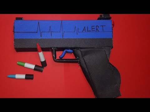 |DIY| How To Make a Paper Adrenaline Gun That Shoots Paper Bullets-Toy Weapons-By Dr.Origami