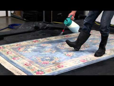 Rug Cleaning San Diego - How we clean your rugs tutorial - Silver Olas