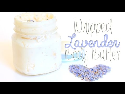 DIY Whipped Lavender Body Butter
