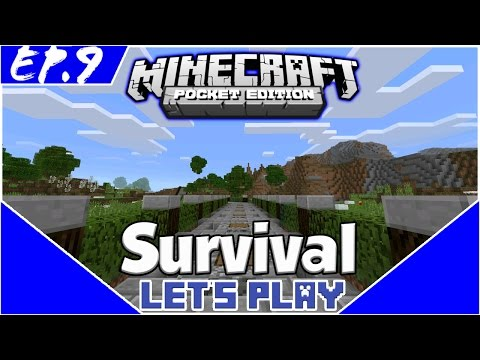 Survival Let's Play EP.9- STONE PATHWAY -Minecraft PE(Pocket Edition)