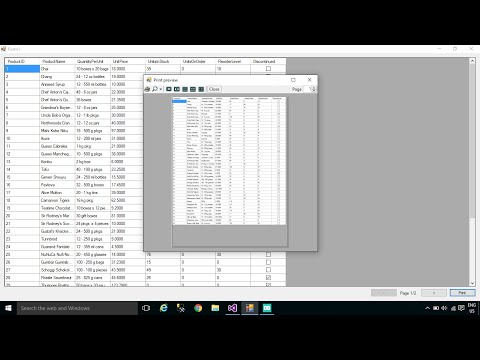 C# Tutorial - How to Print a DataGridView   FoxLearn