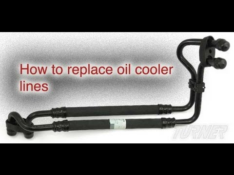 How to replace an oil cooler line