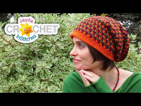 Crochet  Beanie Hat Pattern - Moss Tweed Stitch!