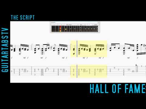 Hall of Fame by The Script Fingerstyle Guitar Pro TABS + PDF