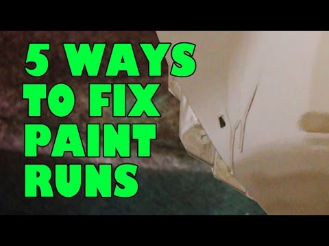 How to fix Runs in paint.