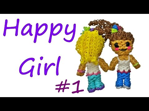 Happy Girl #1 Tutorial by feelinspiffy (Rainbow Loom)