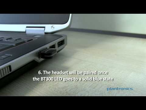 How to Pair the Voyager Legend Headset to the BT300 USB Adapter