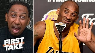 Kobe checks every box over Kawhi up to this point in their careers - Stephen A. | First Take