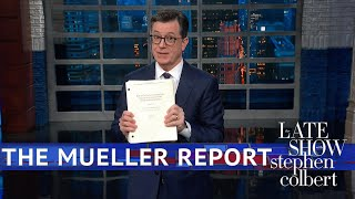 Download Colbert Gets His Copy Of The Mueller Report Video