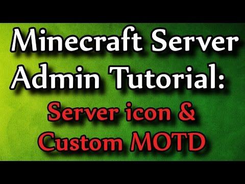Minecraft Admin How-to: Server Icon and Custom MOTD