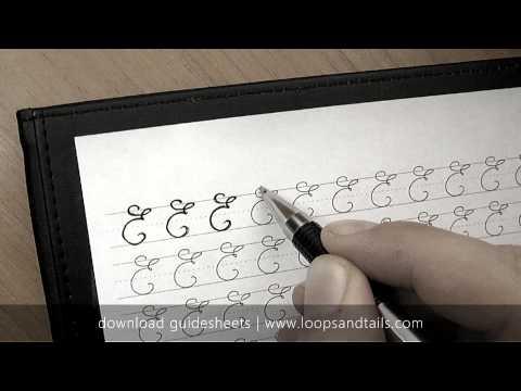 Learn cursive handwriting - Capital E