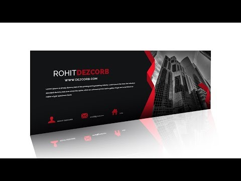 How to Create Facebook Cover Photo Design in Photoshop CS6 | Banner Design Black Red
