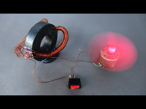 Science projects free energy electricity using magnets generator with fan toys work 100%