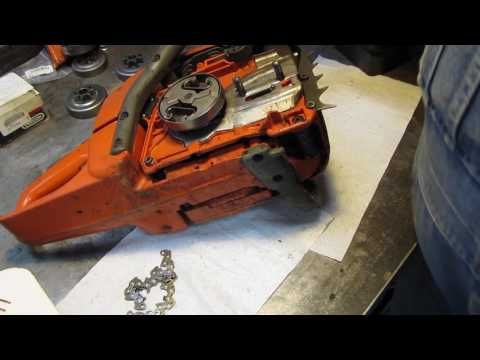 DIY how to check the condition of your chainsaw chain sprocket