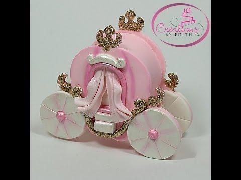 Princess carriage cake topper, part 2