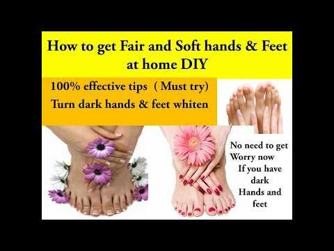 Fair hand & feet || How to get Soft hands at home || Feet,hands care