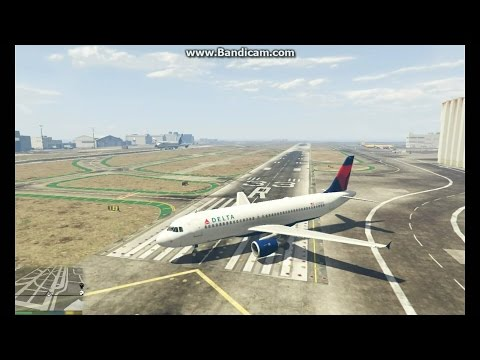 Flying An Airbus A320 in GTA 5: Flight From Los Santos to Sandy Shores Airstrip