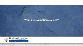 Download What are exemption clauses? Video
