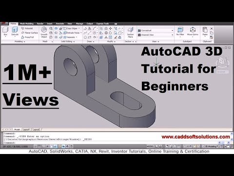AutoCAD 3D Tutorial for Beginners