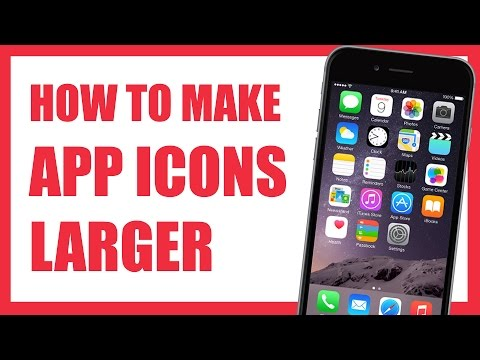 How To Make App Icons Larger on iPhone 6 with Zoomed Mode
