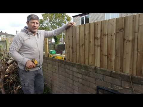 How To Install A Feather Edge Fence On Boundary Wall