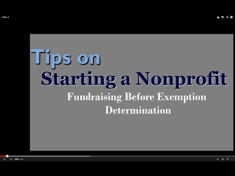 Tips on Starting a Nonprofit: Fundraising Before Exemption