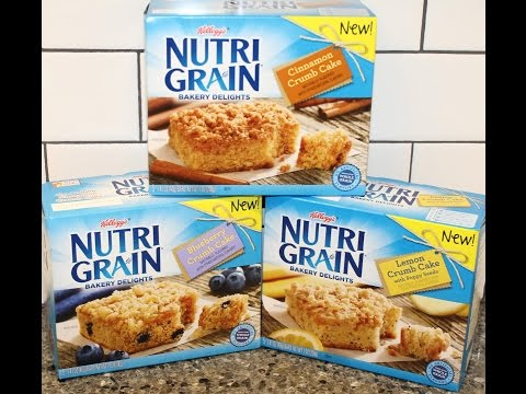 Kellogg's Nutri Grain Bakery Delights: Cinnamon, Blueberry & Lemon Poppy Seed Crumb Cake Review