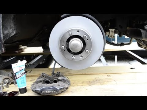 Front Brake Rotor Replace & Brembo Caliper and Pads Removal - Porsche 944 Turbo