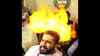 Cutting Hair with Fire - Amazing Hair Cut  Top Secret Part 2