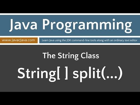 Learn Java Programming - String Class split(...)