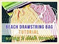 The 2 Dish/Tea Towel Drawstring Bag Tutorial - EASY Tutorial