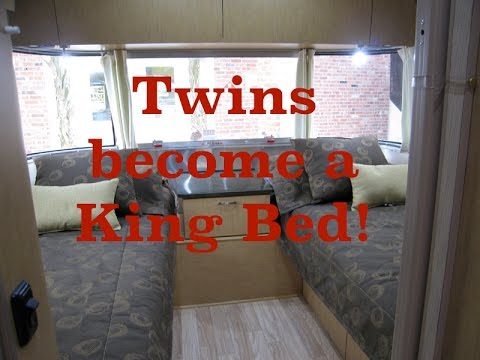 Airstream - Converting twin beds into a residential king size bed
