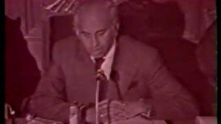 Zulfiqar Ali Bhutto speaks in Islamic Sumit conference 1974 at Lahore