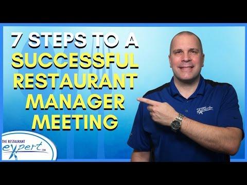 Restaurant Management Tip - 7 Steps to a Successful Restaurant Manager Meeting #restaurantsystems