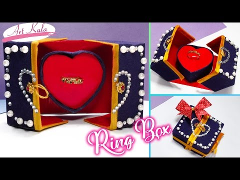 How to make  ring box | Heart pop-up | Valentine's day | DIY | Artkala